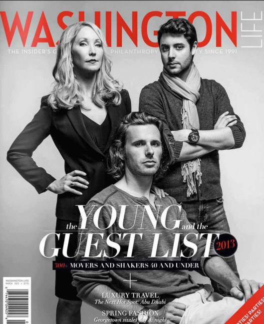 Trevor Frost on the Cover of Washington Life